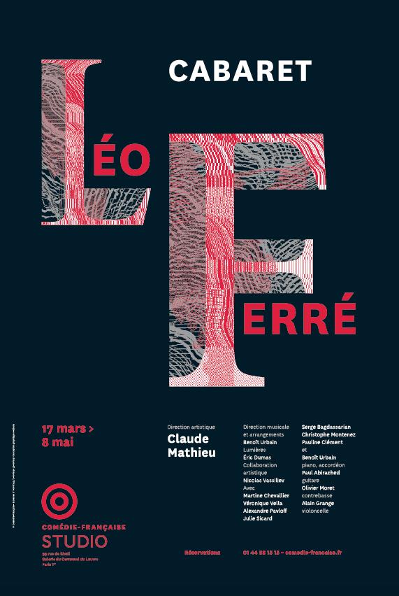 Cabaret Léo Ferré au Studio-Théâtre de la Comédie Française